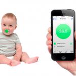 Surveillez la santé de bébé avec la toute première tétine connectée