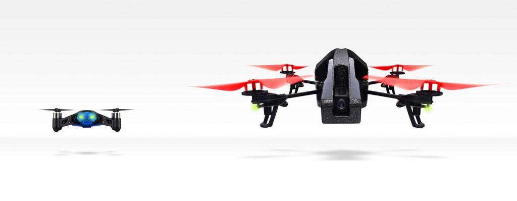 Le Parrot MiniDrone et son grand frère, l'AR.Drone 2.0