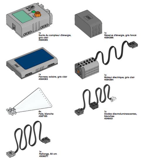 Elements kit Lego énergies renouvelables