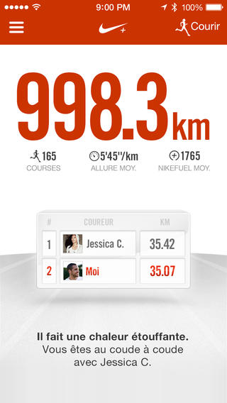 Application Nike+ Running